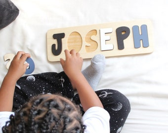 Wooden Name Puzzle, Christmas Gift for Kids, Personalized Gifts, Name Puzzle Baby