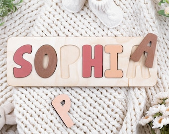 Wooden Name Puzzle, Baby's First, Personalized Gift for Kids, Toddler Toys, New Baby Gift, Nursery Decor