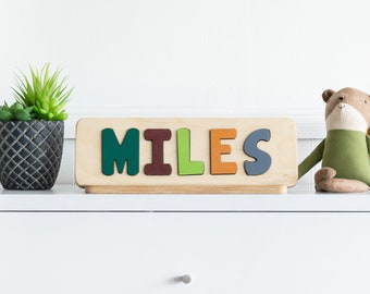 Name Puzzle for Toddlers, Personalized Gift for Toddler, Wood Toy, First Birthday Gift, Gift for Toddler, Christmas Gift for Kids