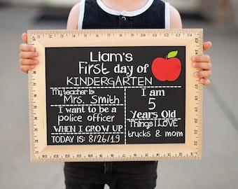 Day of School Chalkboard, Reusable Last Day of School Sign, First Day of Kindergarten, Preschool