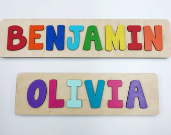Personalized puzzle etsy name puzzle wooden name puzzle name puzzles for toddlers first birthday gift negle Images