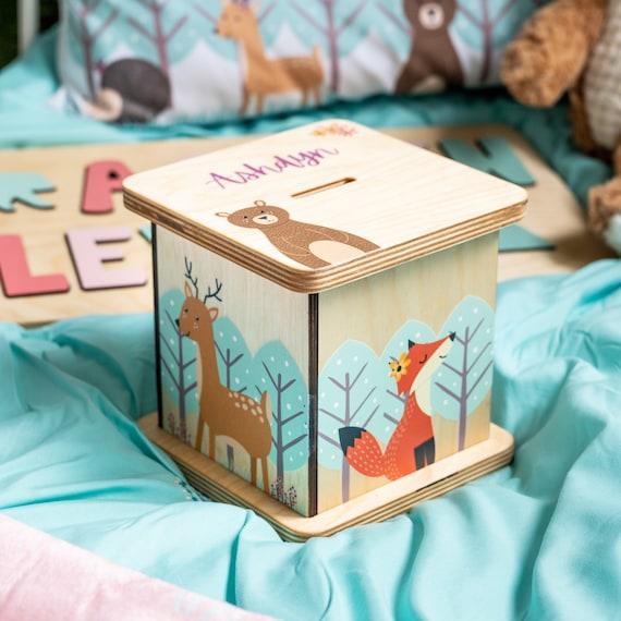 Woodland Piggy Bank Nursery Decor For Girl Woodland Animal