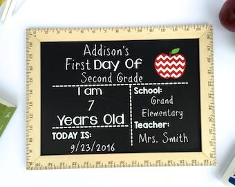 Last Day of School Sign, Last Day of School Chalkboard,  Reusable First Day of School Sign, Last Day Chalkboard, First Day of School Sign