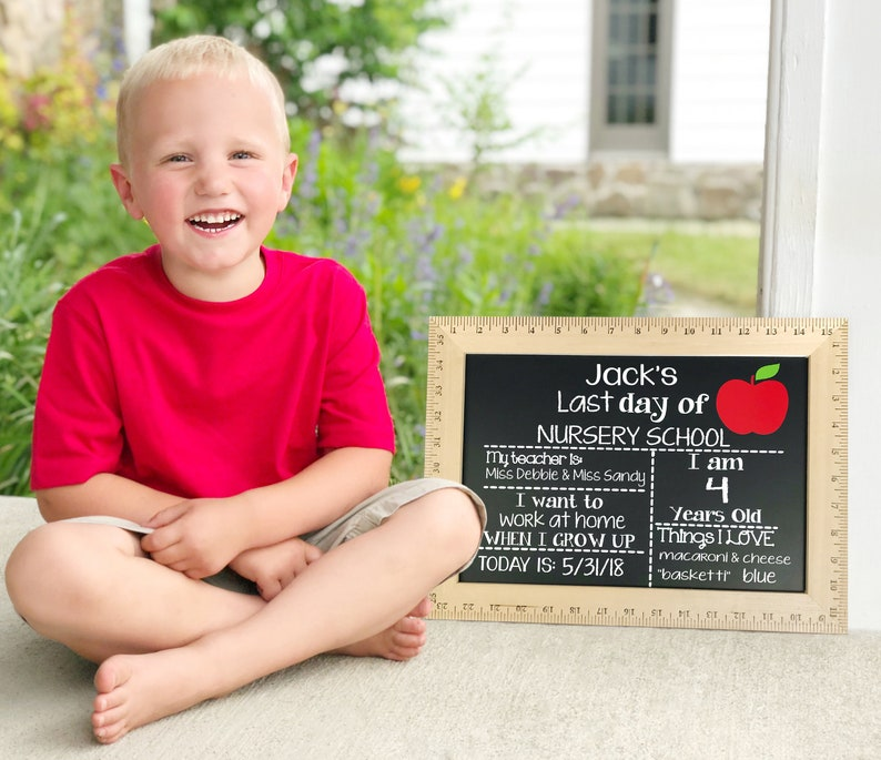 First Day of School Chalkboard  Reusable First Day of School image 0