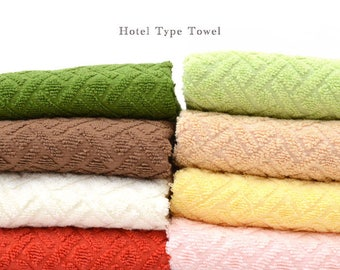 Custom Personalized Embroidered Hand and Bath Hotel Type Towels - Made in Indonesia