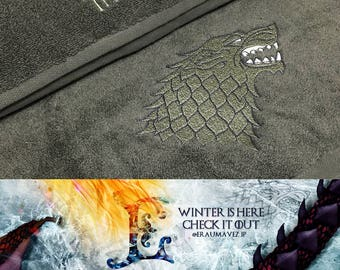 Game of Thrones - House Stark Towel Set