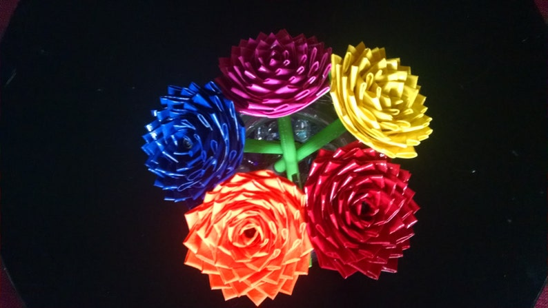 Bouquet Of 5 Duct Tape Rose Pens Etsy