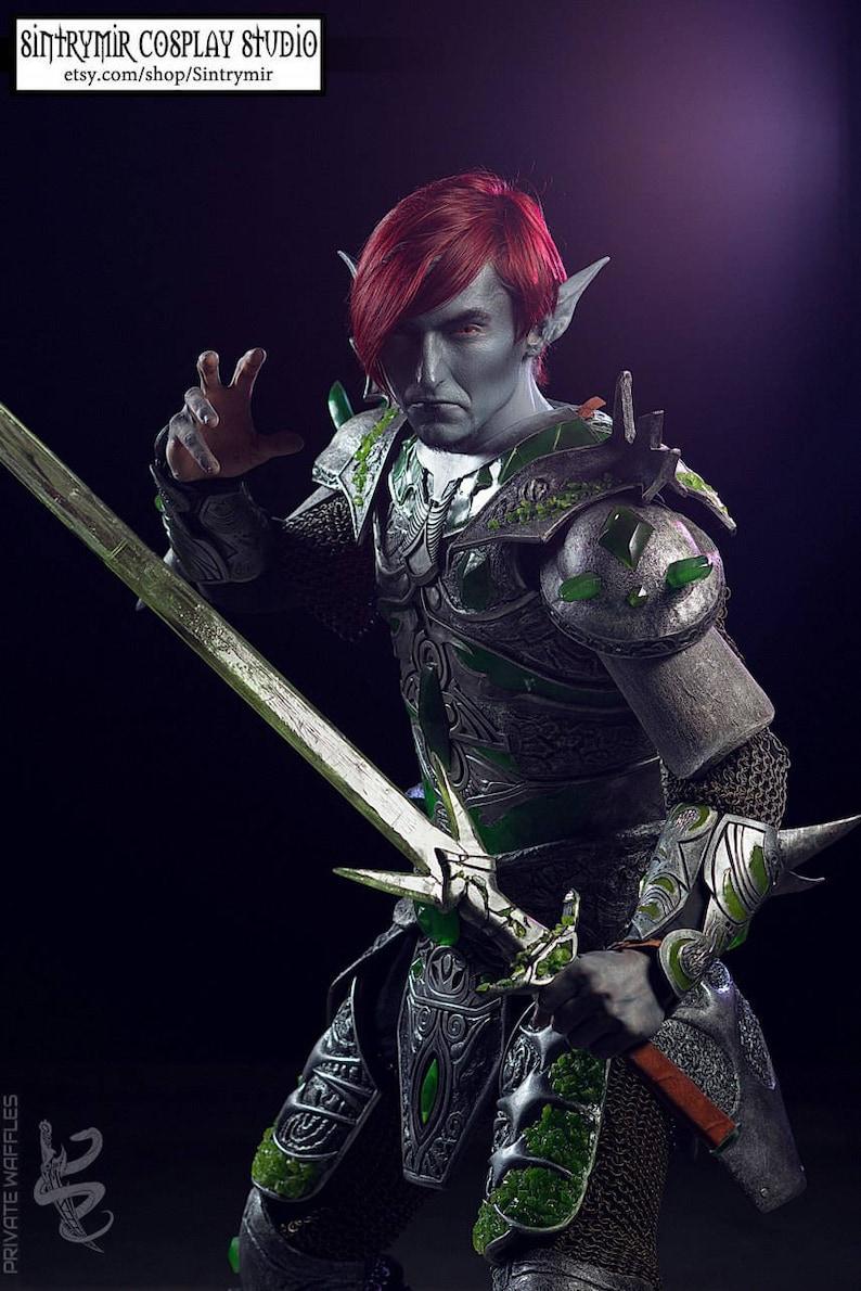 The Elder Scrolls MORROWIND - Glass Armor [in stock] - TES Cosplay Costume  - PREMIUM Quality Realistic eva+pvc