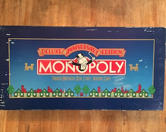 1985 Unopened Complete Monopoly Deluex Anniversary Edition by Parker Brothers no 0007