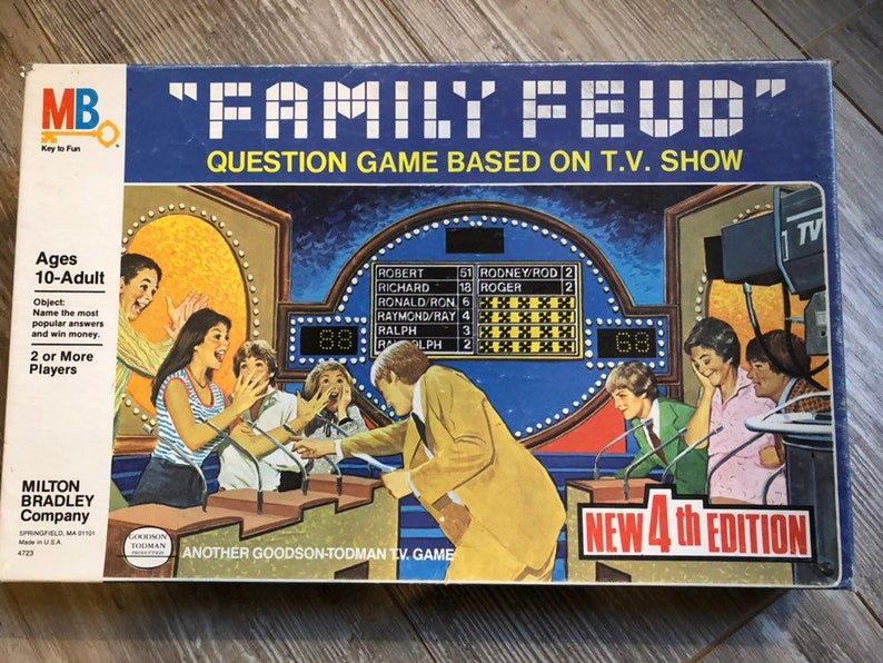 1981 Complete Family Feud 4th Question Game by Milton Bradley No 4723