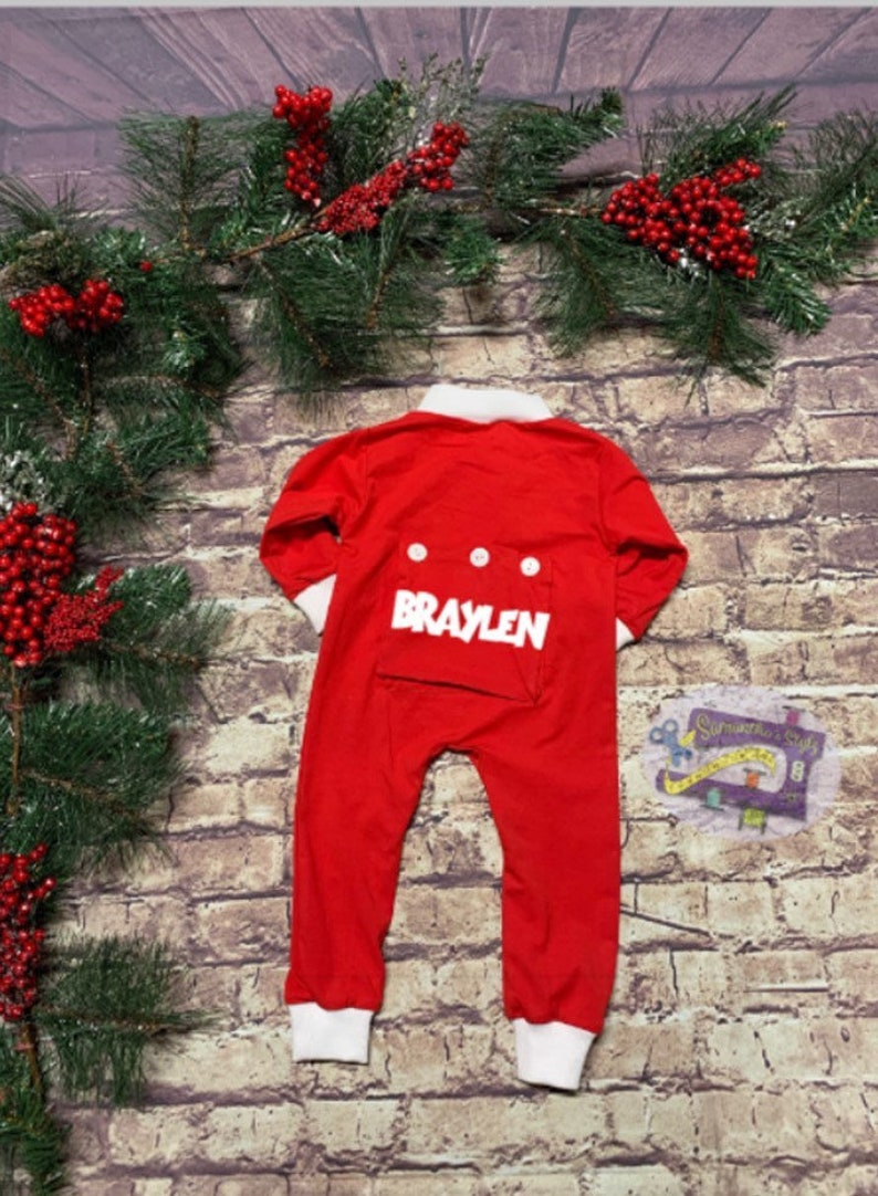 931795f5c Traditional Butt Flap Holiday Pajamas for kids Custom
