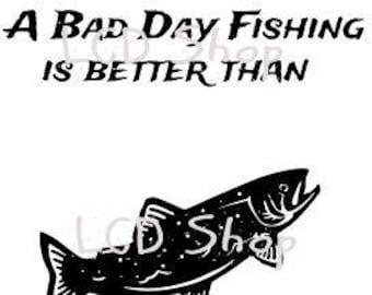 Bad Day Fishing svg