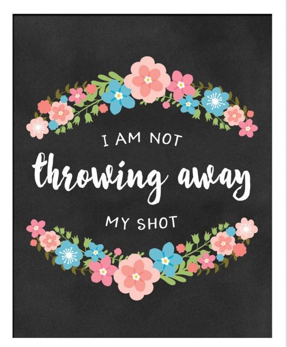 not throwing away my shot pillow | Etsy