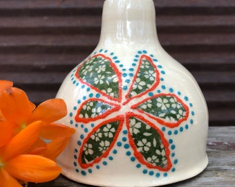 Budvase flower vase handmade vase ceramic vase pottery gift Mother's Day gift wheelthrown vase hanthrown gifts under 25