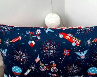 Boy pillow case, fabric by Riley Blake, room decor