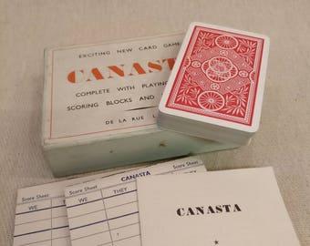 Vintage Canasta game set by De La Rue of London
