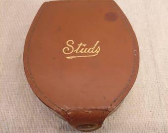 Vintage Leather Shirt Stud Box
