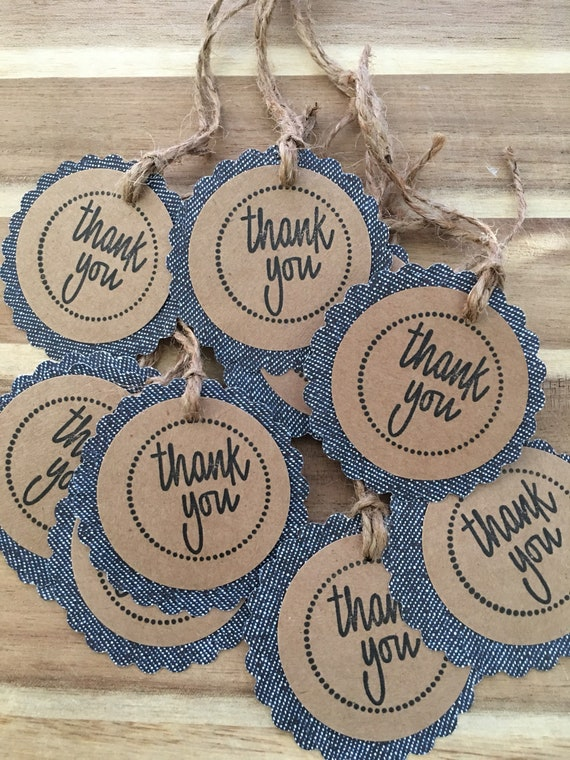 Hand Stamped Set of You Are Unique Tags
