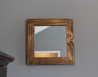 Rustic Wooden Mirror