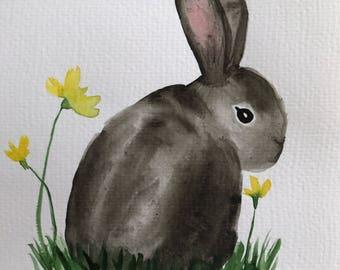 Bunny Rabbit Nursery Art