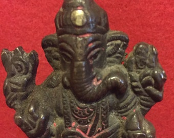 "Over 60 year old, 3.5""""  brass Hindu Ganesha"