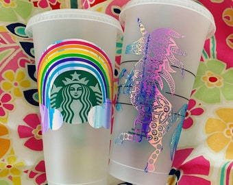 Custom Starbucks Cup Etsy