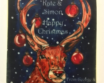 Chocolate Card Stag