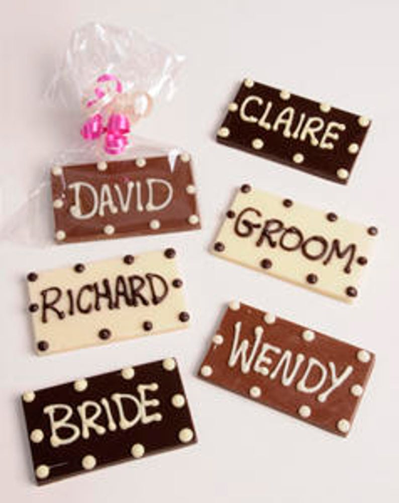 Chocolate Place Name- Rectangle shape with Personalised Names