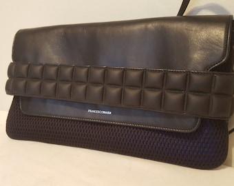 3568233f41ba63 AUF Verkauf, Francesco Biasia, Vintage-Handtasche, Navy Blau Kupplung,  High-Fashion-Geldbörse Schulter Tasche, Schultertasche Handtasche, kleine  Geldbörse, ...