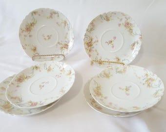 On Sale, Haviland Limoges, Haviland Lorraine, Limoges Lorraine, Saucer Plates, Replacement Plates, French Plates, Vintage Plates, Antique