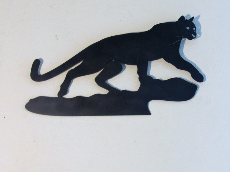 5260531a Mountain Lion, Home Decor, Cougar, Panther, Cat, Metal Art, Wall Art, Wall  Hanging, Wall Sculpture, Wild Life, Silhouette