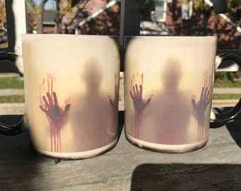 The Walking Dead Mug, Walking Dead Color Changing, Magic Mug, Walking Dead Mug, Walking Dead Gift, Zombie mug