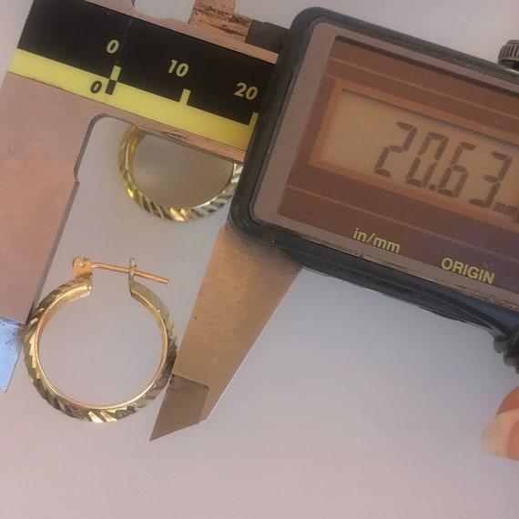 Chunky Hoops - Turkish Gold - Wide hoops -14K Yel… - image 7