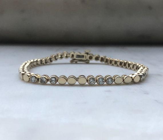 Diamond Tennis Bracelet - Bezel Tennis Bracelet -