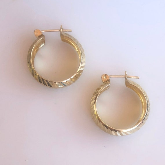 Chunky Hoops - Turkish Gold - Wide hoops -14K Yel… - image 2