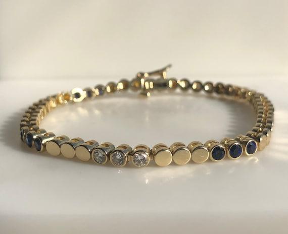 Sapphire & Diamonds - Sapphire Tennis Bracelet - Y