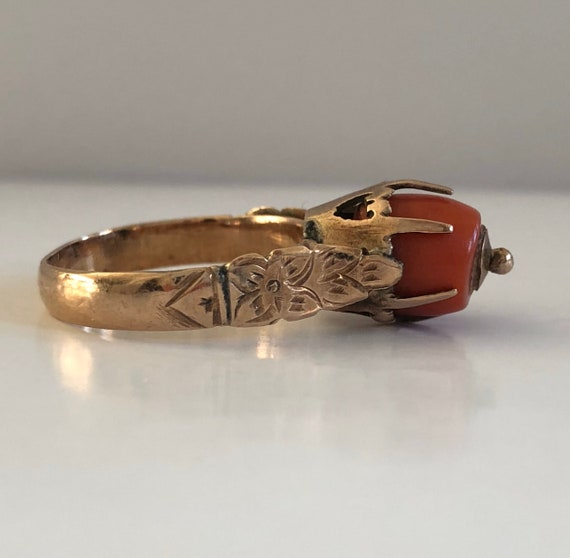 IS The POPE CATHOLIC - Victorian Ring - Coral Anti
