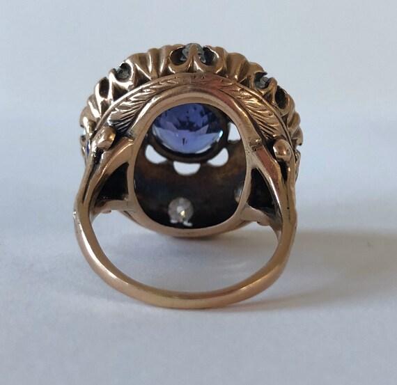 Cocktail De Deco - Vintage Ring - Cocktail Ring -… - image 5