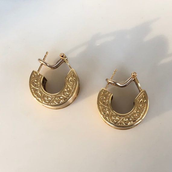 GREEK HOOPS - Thick Gold Hoops - 14K Yellow Gold -