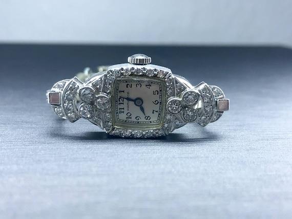 1950's Original Hamilton Watch - Antique Diamond W