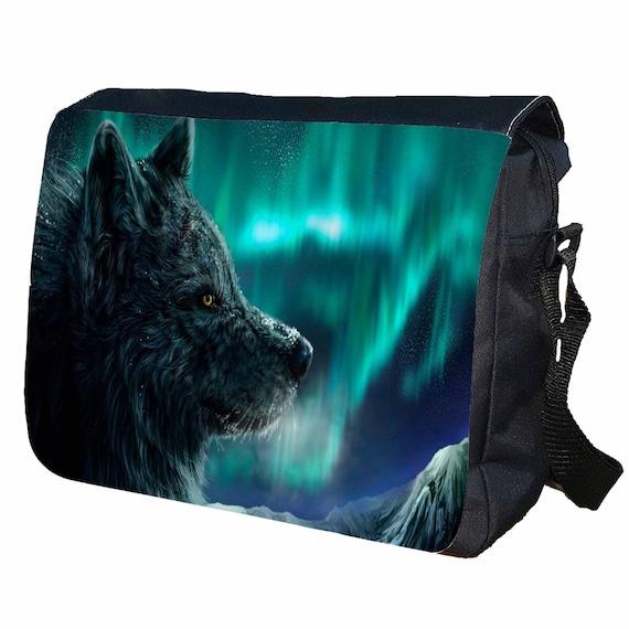 Wolf Personalised Messenger Shoulder Bag