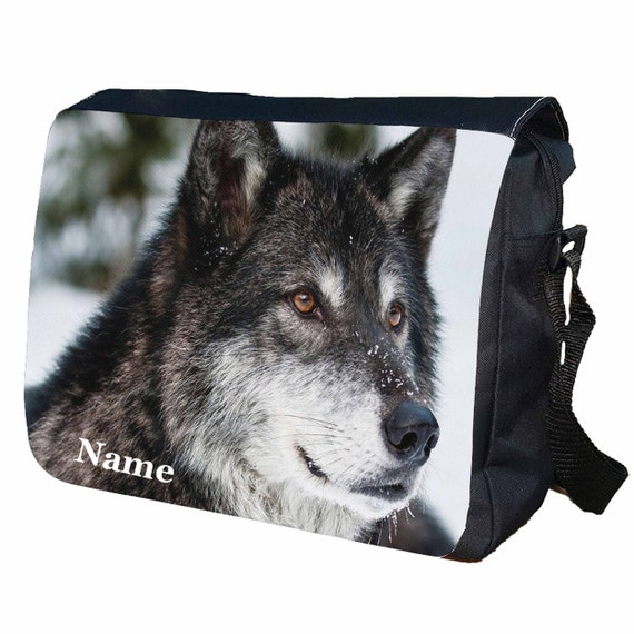 Husky Personalised Messenger Shoulder Bag