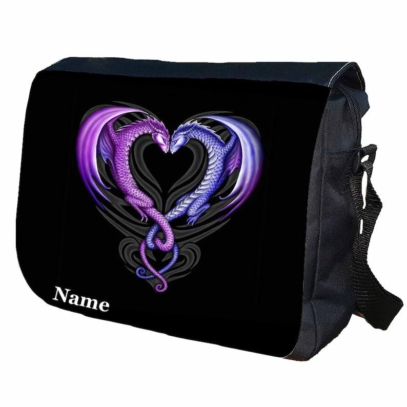 Purple Dragon Personalised Messenger Shoulder Bag
