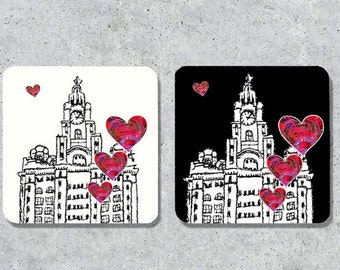LIVERPOOL mugs, coasters