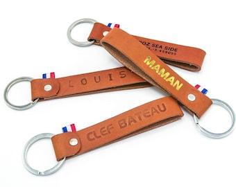 Leather key holder - customizable - Key ring