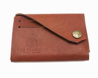 Leather Wallet Credit Cards and Coins