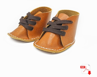 Leather Baby Shoes PDF Pattern