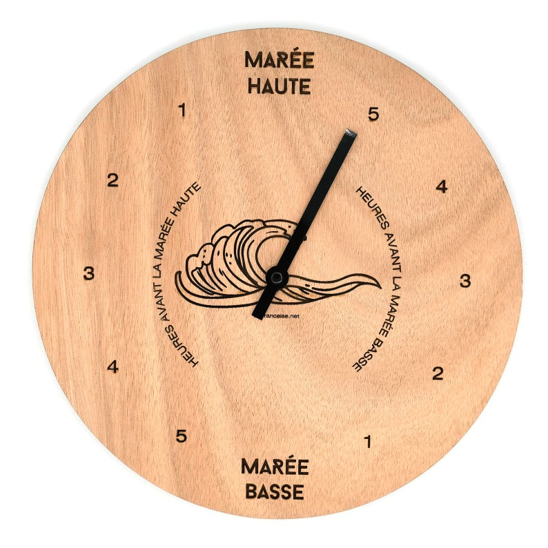 Wooden Tides Clock  Customizable image 1