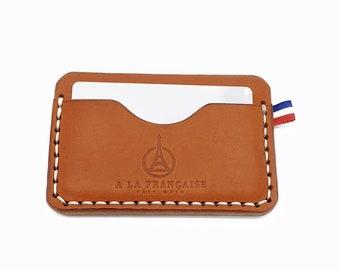 "Minimal Leather Wallet ""Gabriel"" 3 Pockets"
