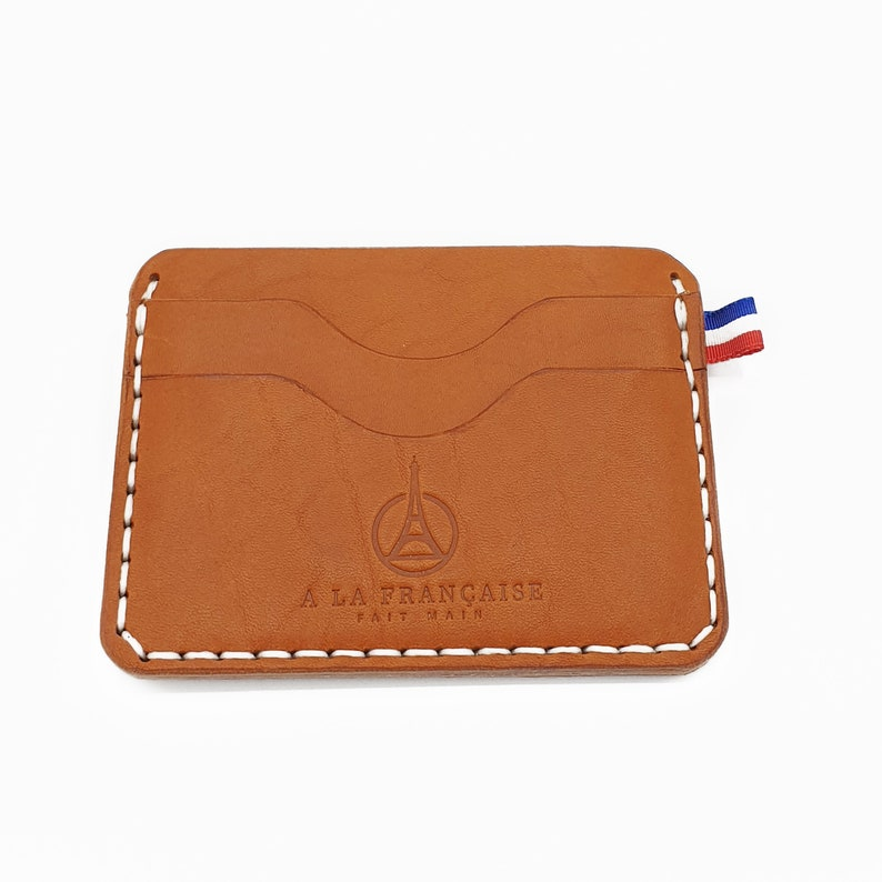 Minimal Leather Wallet for 4 cards image 0